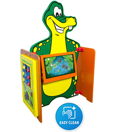 Kidzpace Ally Gator game center with Touch2Play Max and 2 play modules